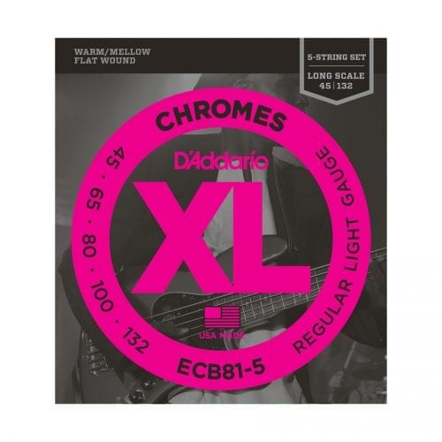 D'Addario ECB81-5 Chromes 5-String Regular Light Long Scale Bass Strings