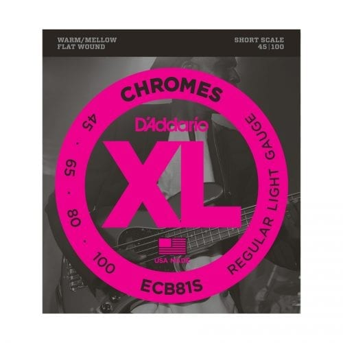 D'Addario ECB81S Chromes Regular Light Short Scale Bass Strings