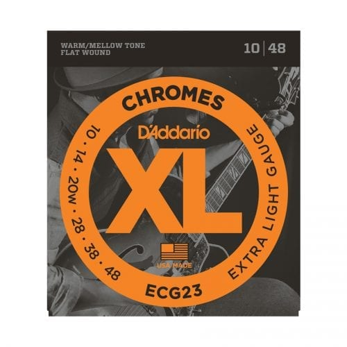 D'Addario ECG23 Chromes Extra Light Electric Guitar Strings
