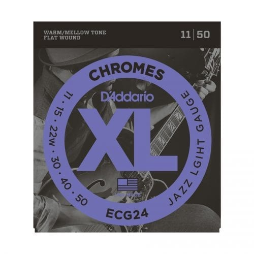 D'Addario ECG24 Chromes Jazz Light Electric Guitar Strings
