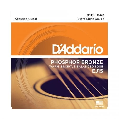 D'Addario EJ15 Phosphor Bronze Extra Light Acoustic Guitar Strings