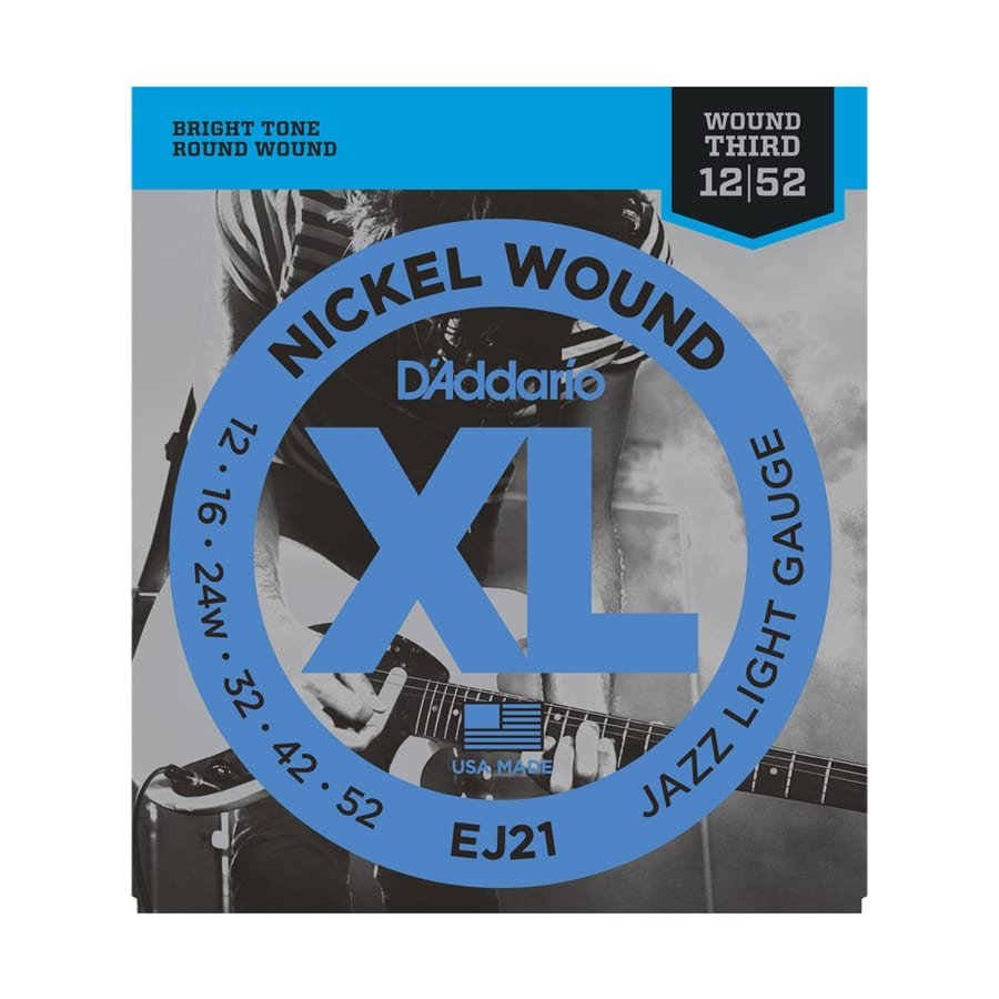 D'Addario EJ21 Nickel Wound Jazz Light Electric Guitar Strings