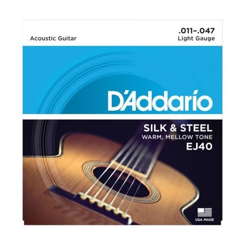 D'Addario EJ40 Silk and Steel Folk Acoustic Guitar Strings