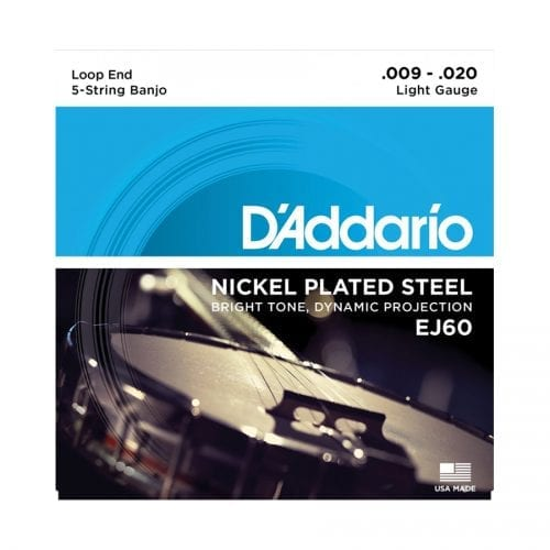D'Addario EJ60 Nickel Light 5-String Banjo Strings