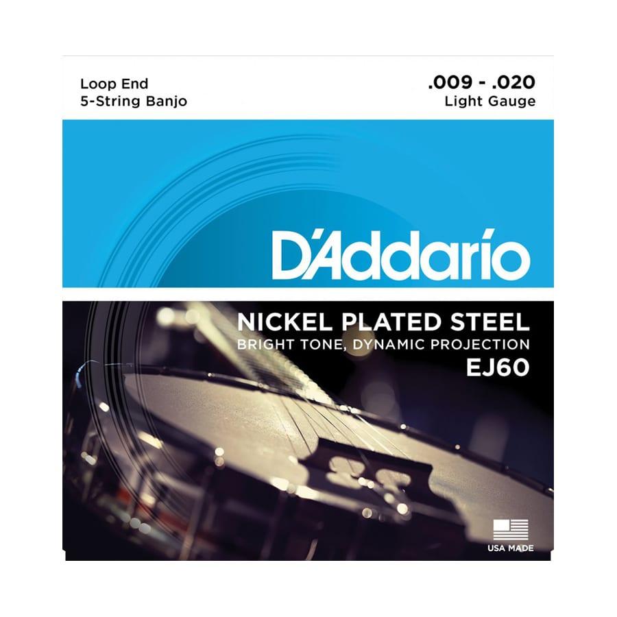 D'Addario EJ60 Nickel Light 5-String Banjo Strings