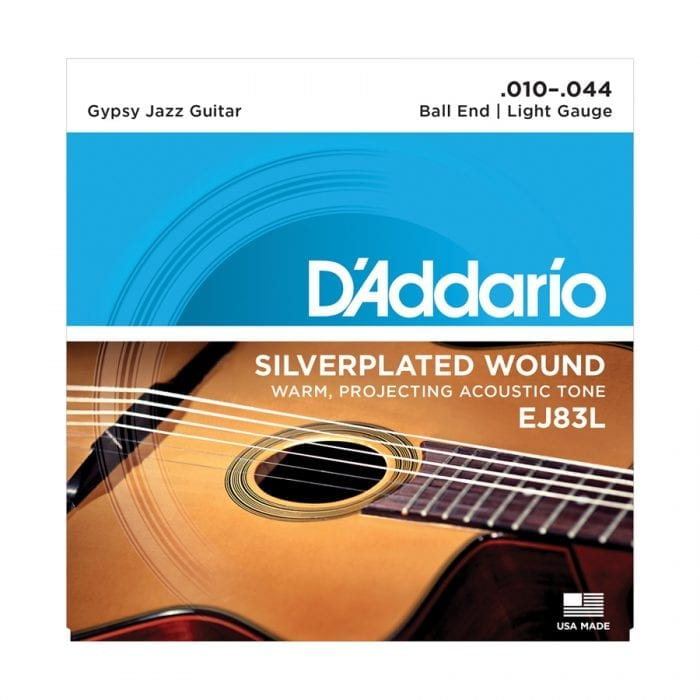 D'Addario EJ83L Gypsy Jazz Ball End Light Acoustic Guitar Strings