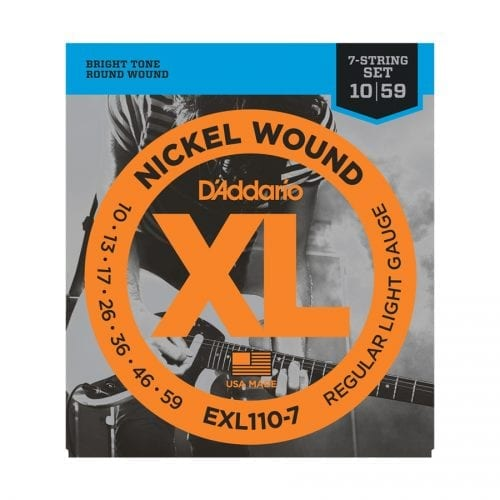D'Addario EXL110-7 XL Regular Light 7-String Electric Guitar Strings
