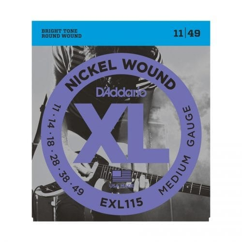 D'Addario EXL115 Nickel Wound Medium Blues Jazz Rock Electric Guitar Strings