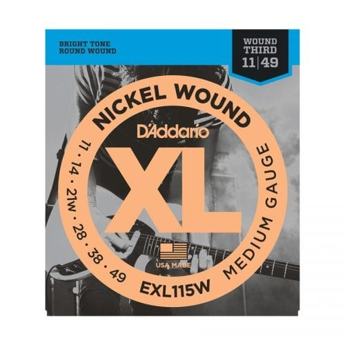 D'Addario EXL115W Nickel Wound Medium Blues Jazz Rock Electric Guitar Strings