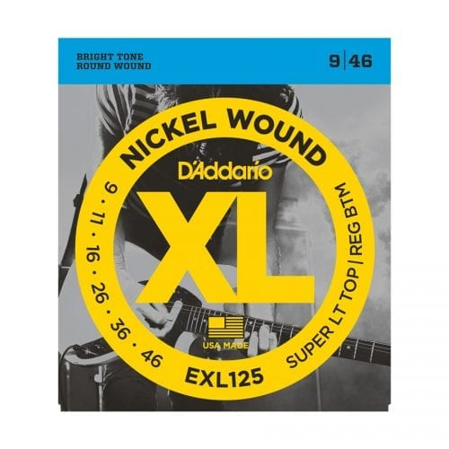 D'Addario EXL125 XL Super Light Top Regular Electric Guitar Strings