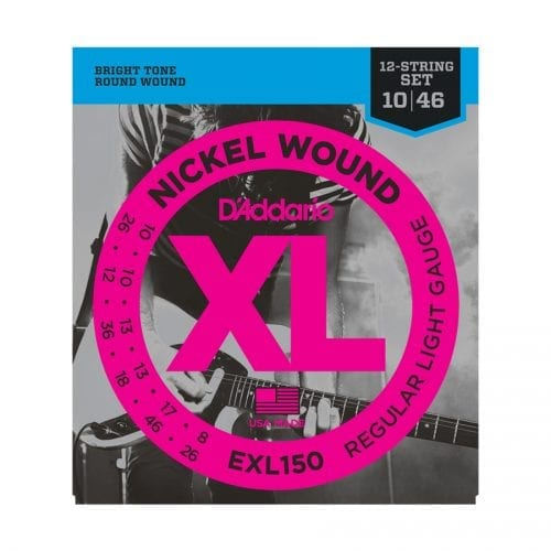 D'Addario EXL150 Nickel Wound 12-String Regular Light Electric Guitar Strings
