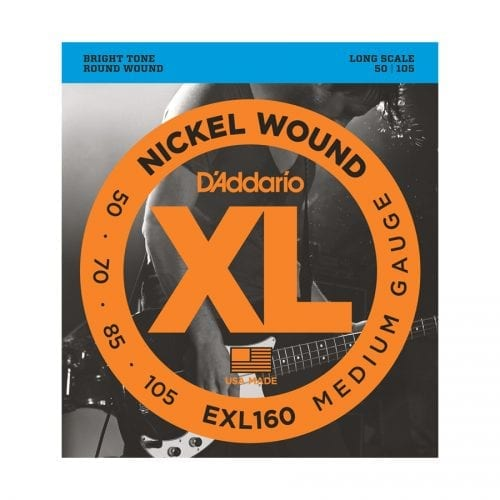D'Addario EXL160 Nickel Wound Medium Long Scale Bass Strings