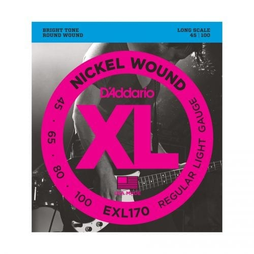 D'Addario EXL170 Nickel Wound Bass Light Long Scale Bass Guitar Strings