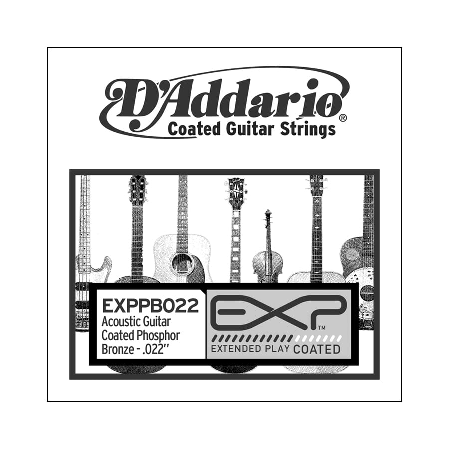 D'Addario PB022 Phosphor Bronze Wound Single Acoustic Guitar String
