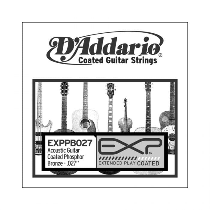 D'Addario PB027 Phosphor Bronze Wound Single Acoustic Guitar String