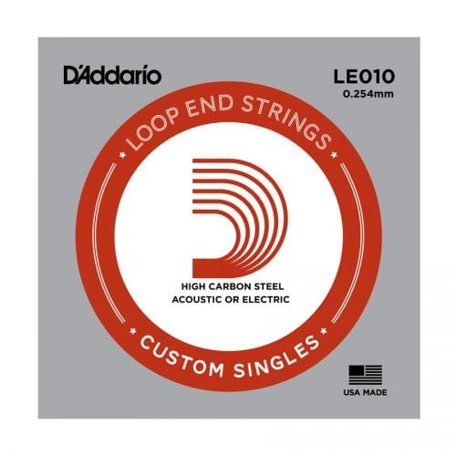 D'Addario LE010 Loop End Single Guitar String