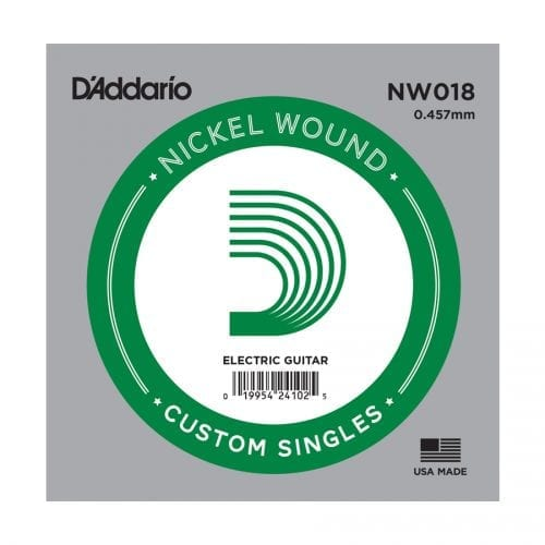 D'Addario NW018 XL Nickel Wound Single Electric Guitar String