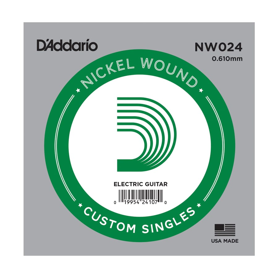 D'Addario NW024 XL Nickel Wound Single Electric Guitar String