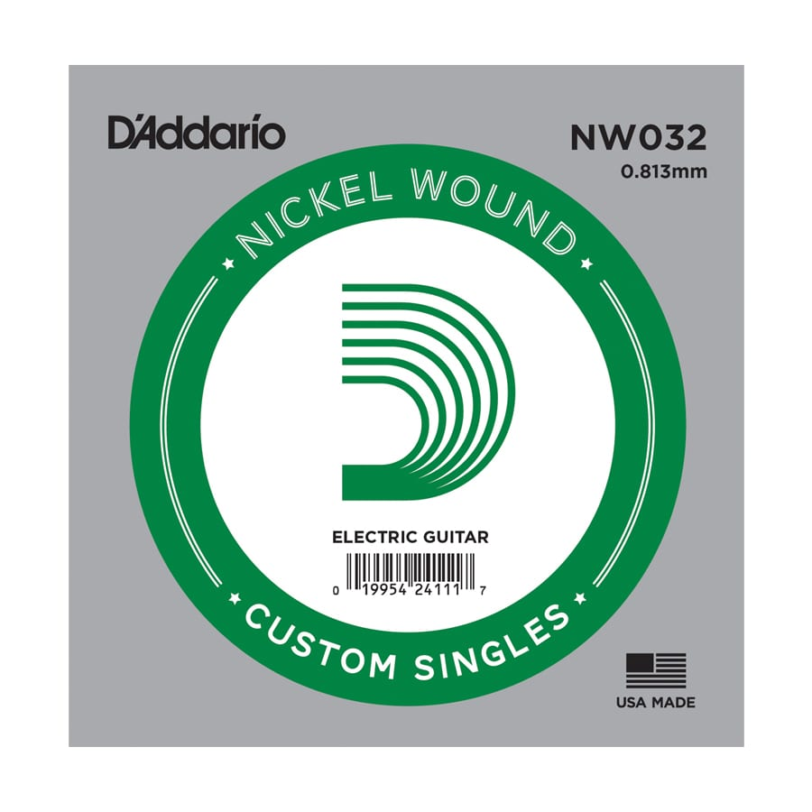 D'Addario NW032 XL Nickel Wound Single Electric Guitar String