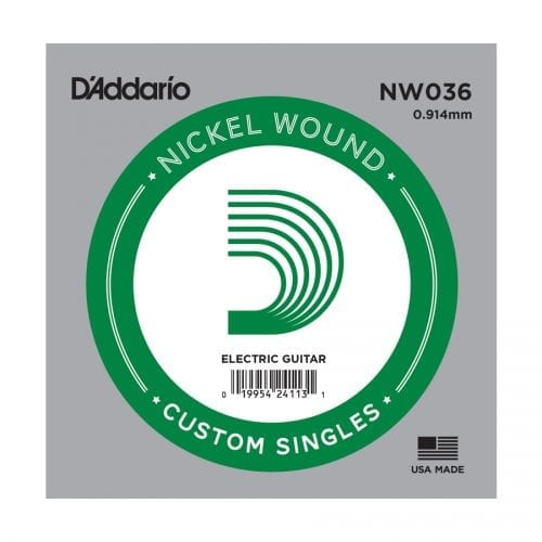 D'Addario NW036 Nickel Wound Single Electric Guitar String