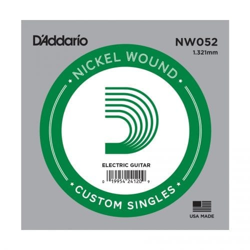 D'Addario NW052 XL Nickel Wound Single Electric Guitar String