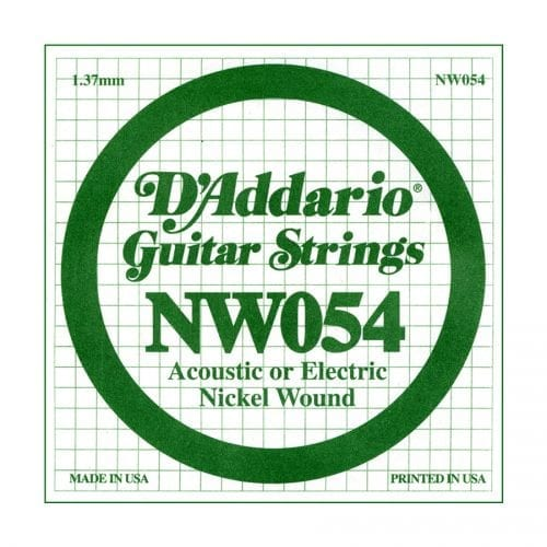 D'Addario NW054 XL Nickel Wound Single Electric Guitar String