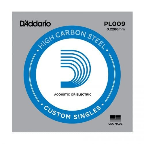D'Addario PL009 Plain Steel Single Guitar String