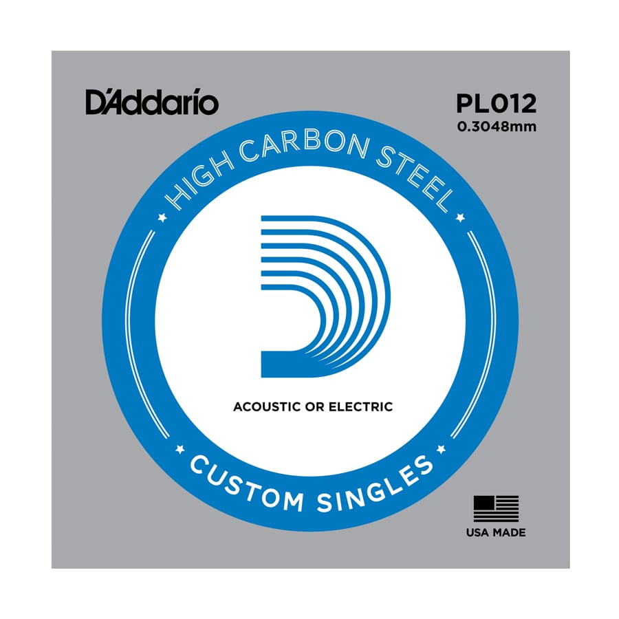 D'Addario PL012 Plain Steel Single Guitar String