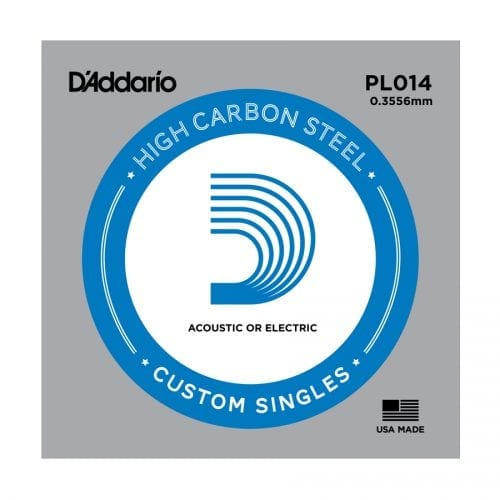 D'Addario PL014 Plain Steel Single Guitar String