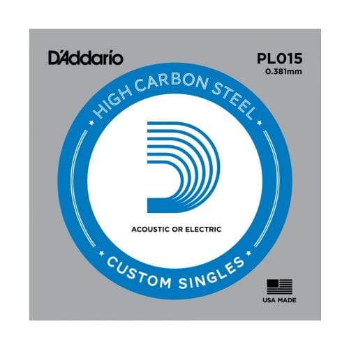 D'Addario PL015 Plain Steel Single Guitar String
