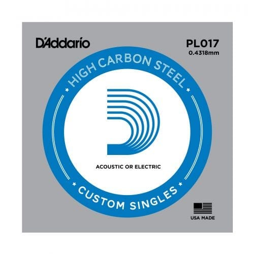 D'Addario PL017 Plain Steel Single Guitar String