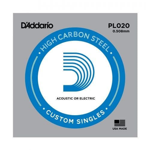 D'Addario PL020 Plain Steel Single Guitar String