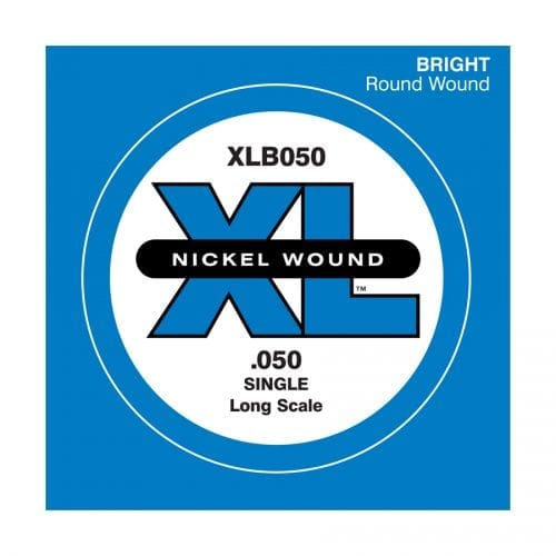D'Addario XLB050 XL Nickel Round Wound Single Electric Bass String