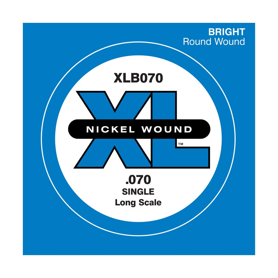 D'Addario XLB070 XL Nickel Round Wound Single Electric Bass String