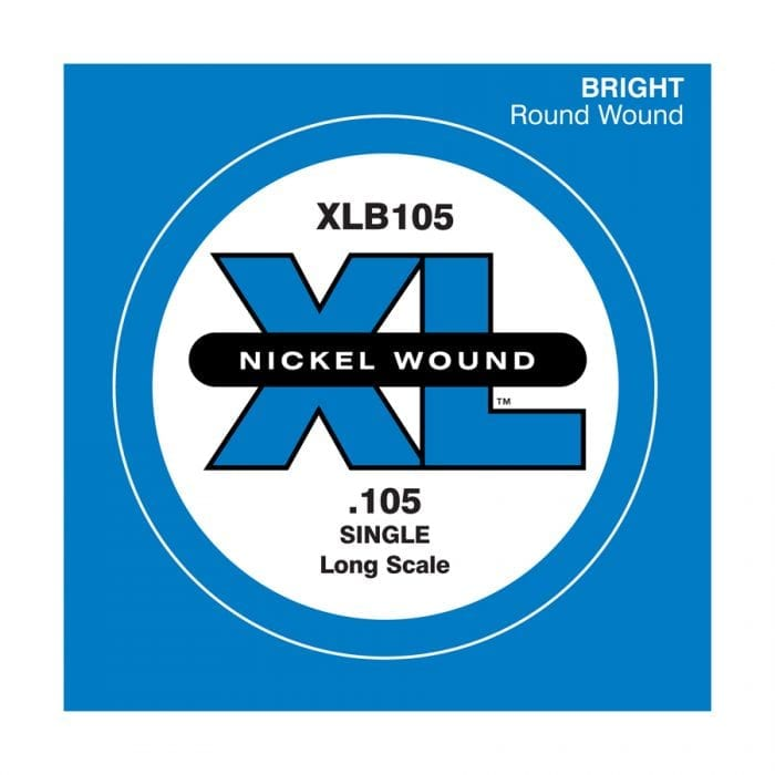D'Addario XLB105 XL Nickel Round Wound Single Electric Bass String
