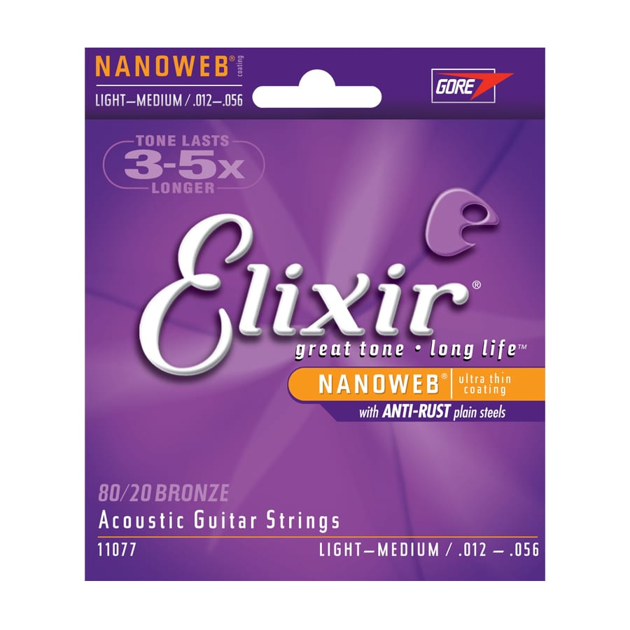 Elixir Nanoweb 80-20 Bronze Light-Medium