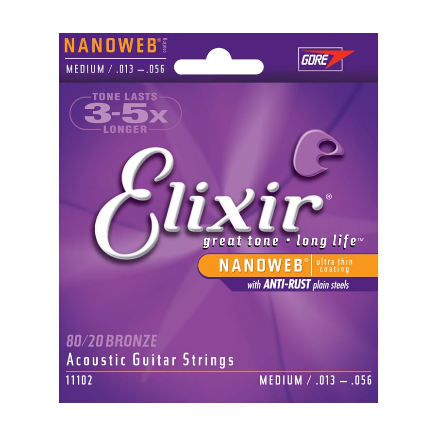 Elixir Nanoweb 80-20 Bronze Medium