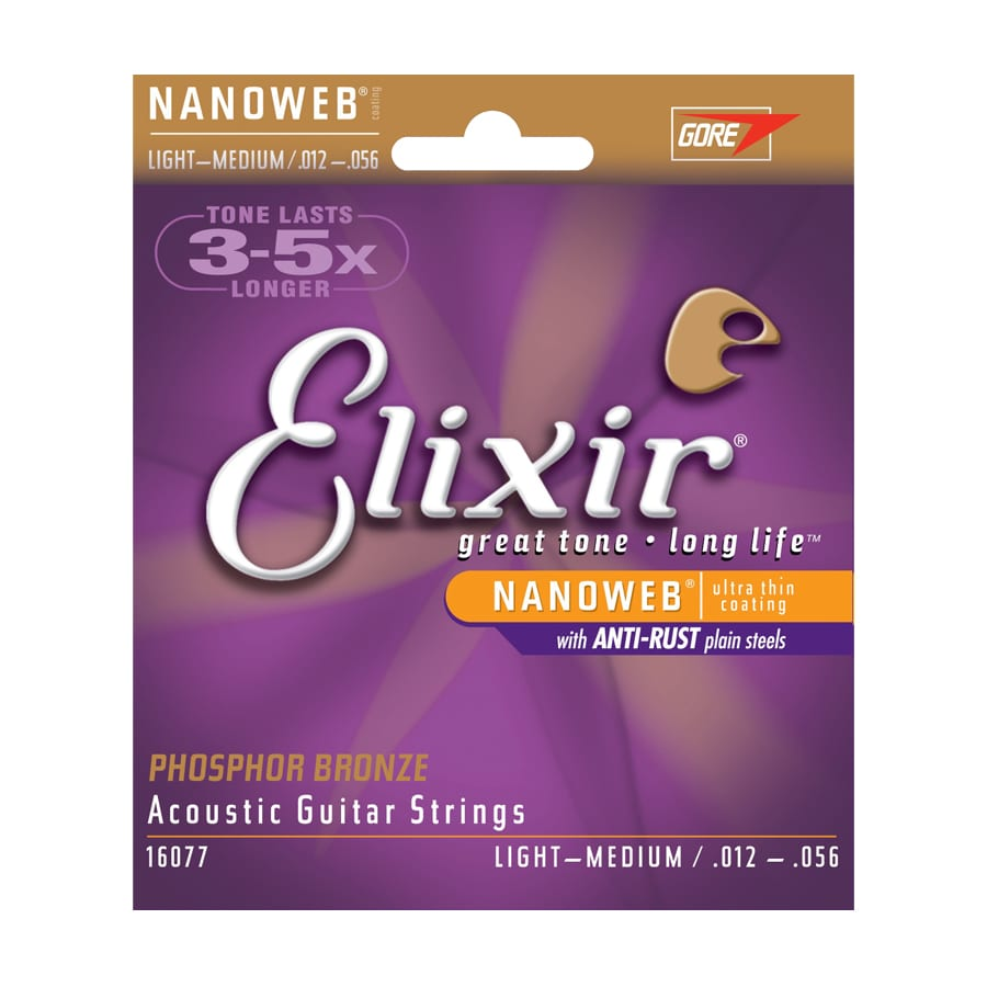 Elixir Nanoweb 80-20 Phosphor Bronze Light-Medium