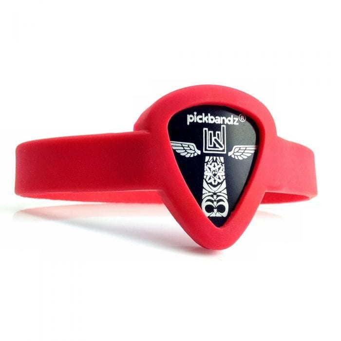 Pickbandz Adult Medium-Large Rockin Red Bracelet