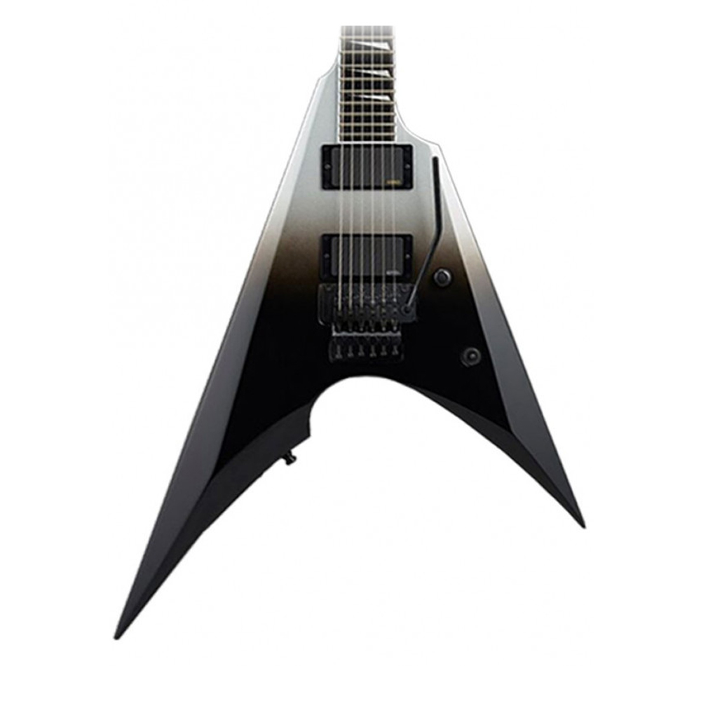 ESP E-II Arrow Black Silver Fade